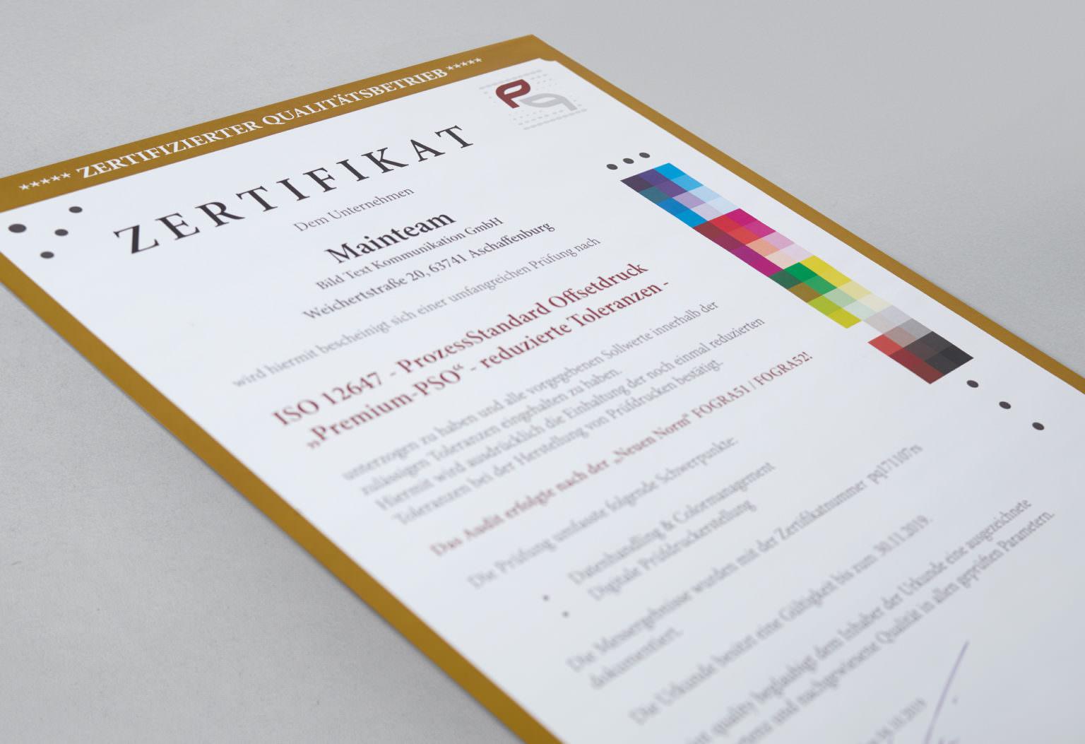 Zertifizierung nach PSO