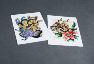 Golden Sphynx Tattoo Postkarte