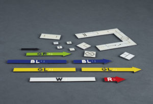 Magnete mit Druck tastbarer Strukturen
